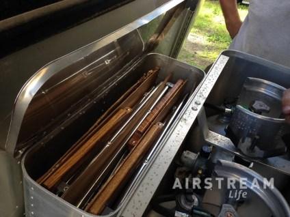 Airstream Zip Dee chair storage open