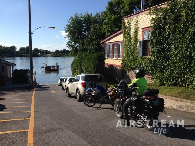 BMW motorcycle Quebec ferry