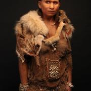 Reconstitution de la femme Homo sapiens dite de l'Abri Pataud (Dordogne) d'après ses ossements. Cette jeune individue aurait vécu il y a 20 000 ans. Source : © S.Entressangle, E.Daynes / LookatSciences.