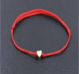 Mazel Red String Heart Bracelet
