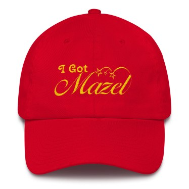 Proudly display 'I Got Mazel""