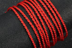 red string braded luck bracelet 2
