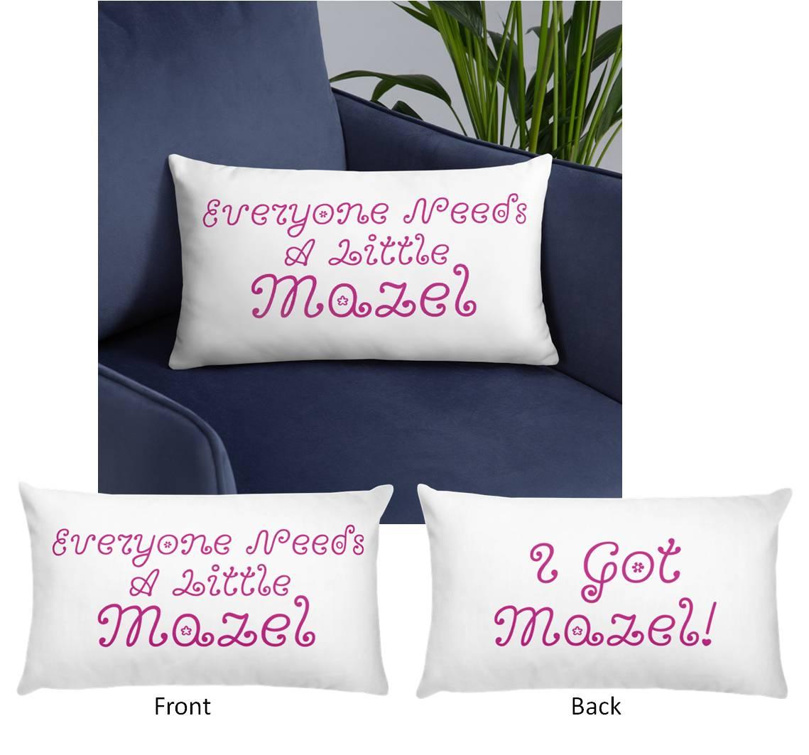 Mazel Good Luck Pillows Gifts