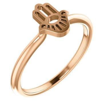 Stackable Gold Hamsa Ring