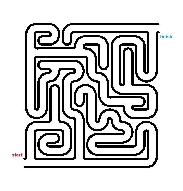 easy maze coloring pages click on maze to print