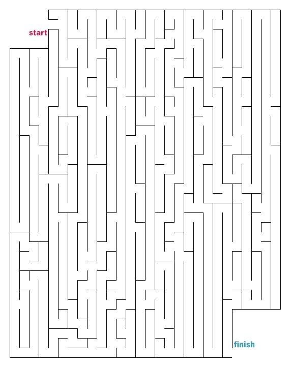 Mazes To Print Medium Cutout Mazes