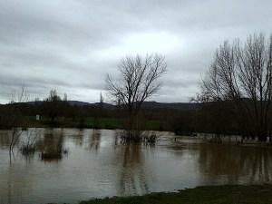 Crecida del río. Invierno 2014