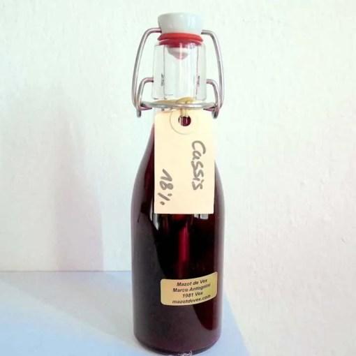 mazot de vex liqueur cassis artisanale