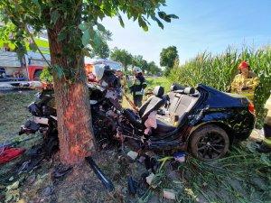 Fotografia kolorowa: wypadek w Unierzyżu