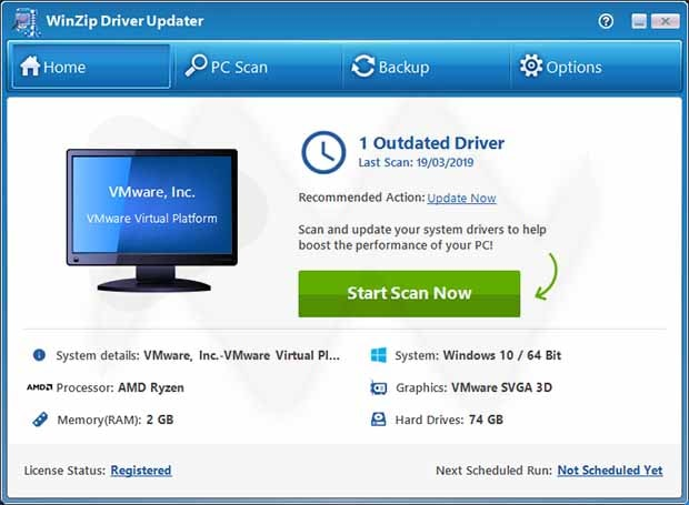 WinZip Driver Updater Crack With License key