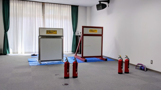 オモシロ消防訓練