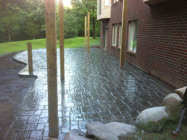 Stamped Concrete Patio On The Lake Fenton Michigan