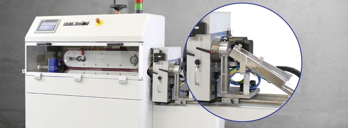 Schneidmaschine mit Produktweiche von Maschinenbau Bardowick