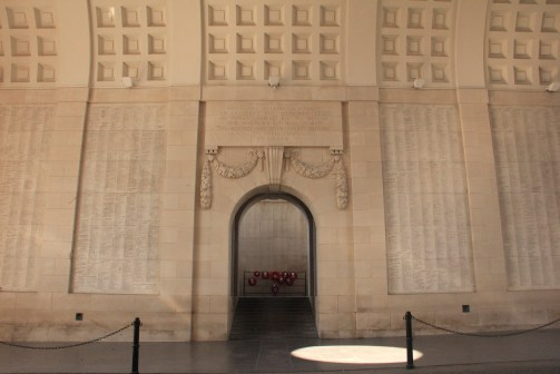 Menin Gate - names of the WWI missing