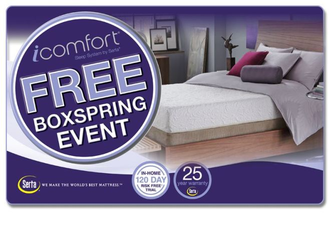 Serta Mattress Offers Labor Day Savings With The Icomfort Free Box Spring Event