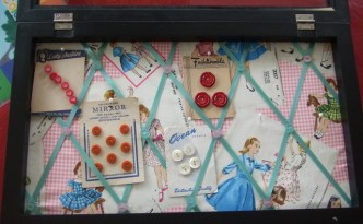 Vintage Button Display