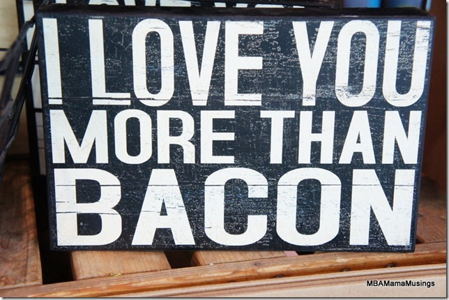 Canada Blooms Bacon Sign