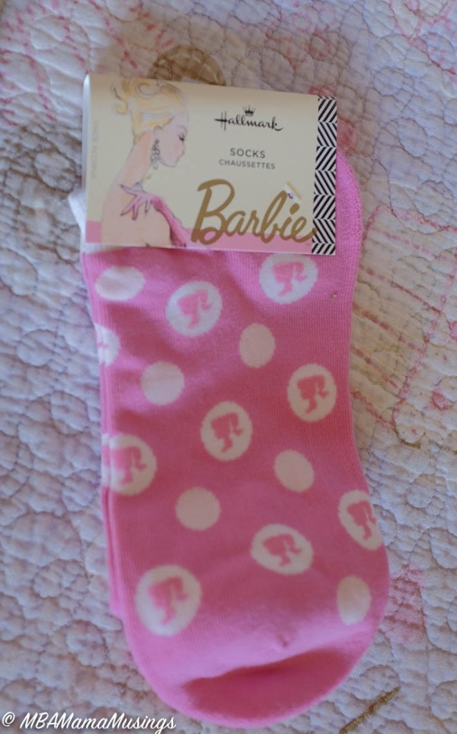 Hallmark Barbie Pink Ankle Socks