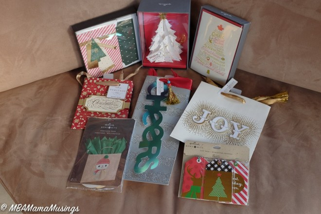#LoveHallmarkCA Christmas cards and gift tags