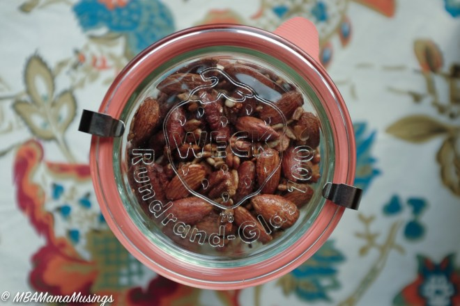 Spicy Maple Mixed Nuts in Weck Glass Jar