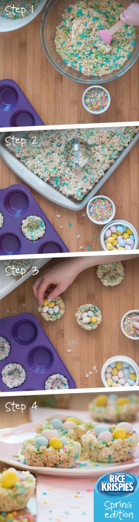Step by Step Rice Krispies Nests