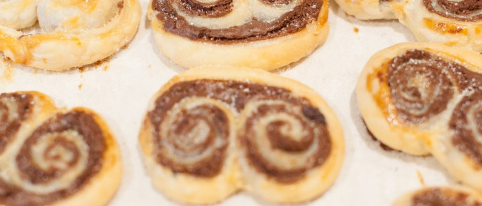 Chocolate Palmiers Philadelphia Cream Cheese Puff Pastry