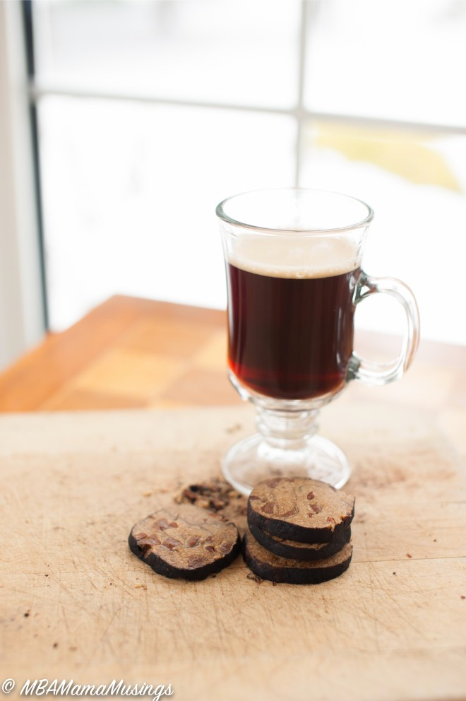 Coffee Cup Espresso Thins Icebox Cookies Cacao Nibs