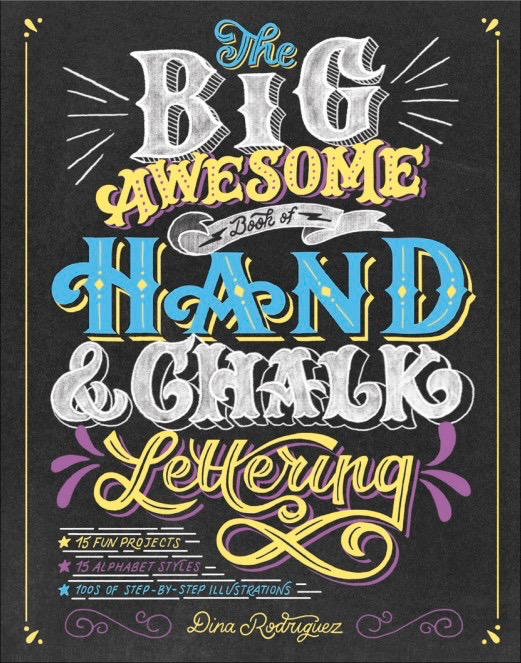 Hand and Chalk Lettering Instruction Book Maker March