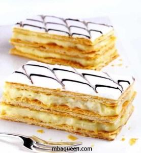 Ванильные пирожные из слоеного теста