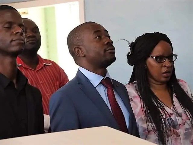 Chamisa and wife