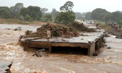 Cyclone Idai affected road