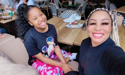 Khanyi Mbau and her daughter