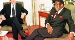 Mugabe with Blair