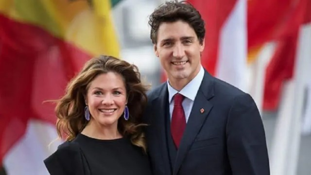 Justin Trudeau' and wife