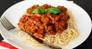Quick sausage Bolognese