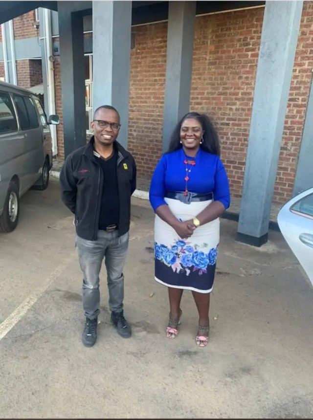 Shingi Munyeza and Ngarivhume Wife