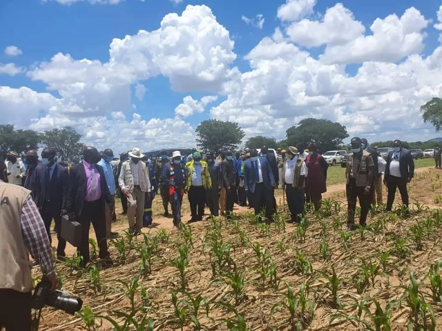 Mnangagwa Field tour