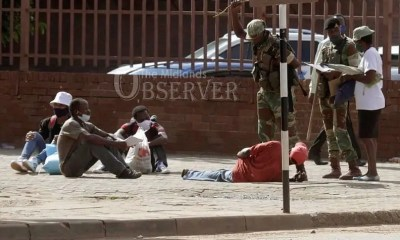 Soldiers Beating up people