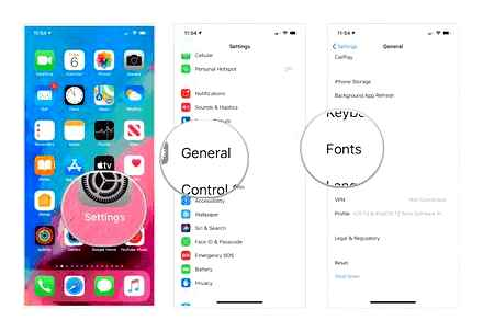 fonts, iphone