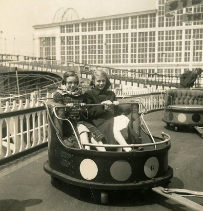 Mom and a friend at Coney Island at Luna Park