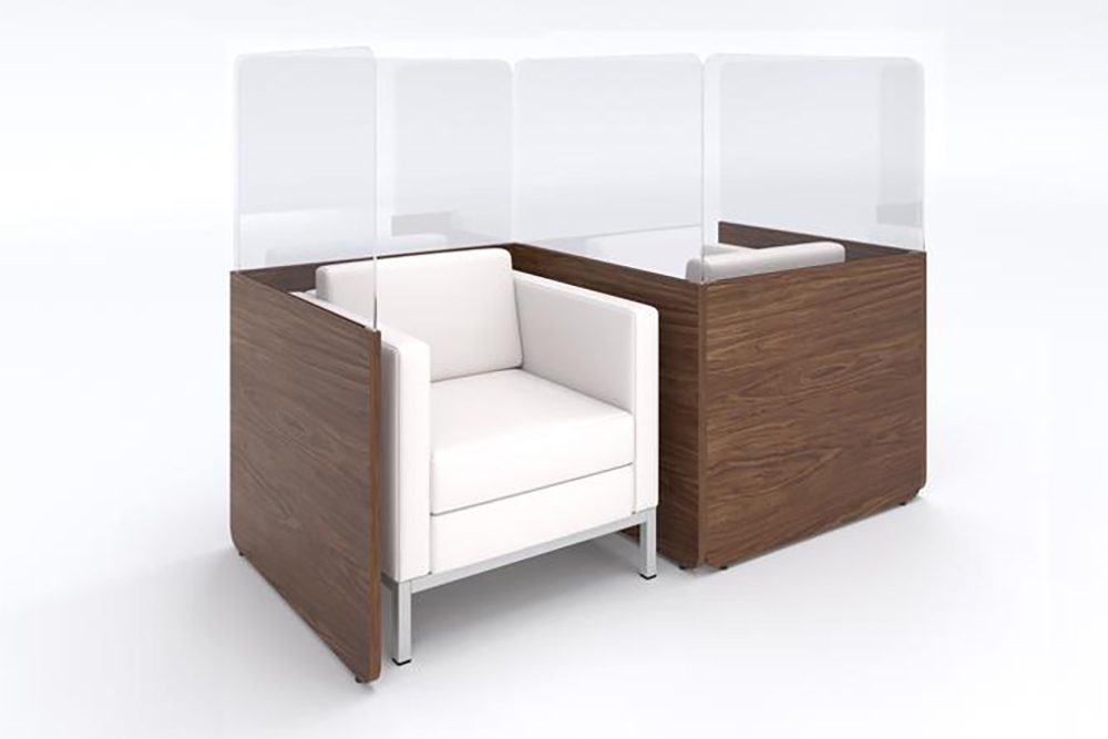 Screens for lobby furniture