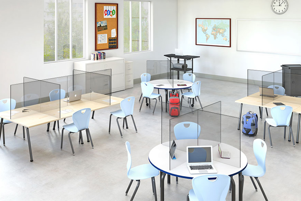Peter Pepper Protective Screens in Classroom