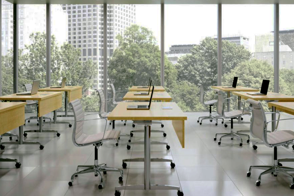 Classroom traiing table