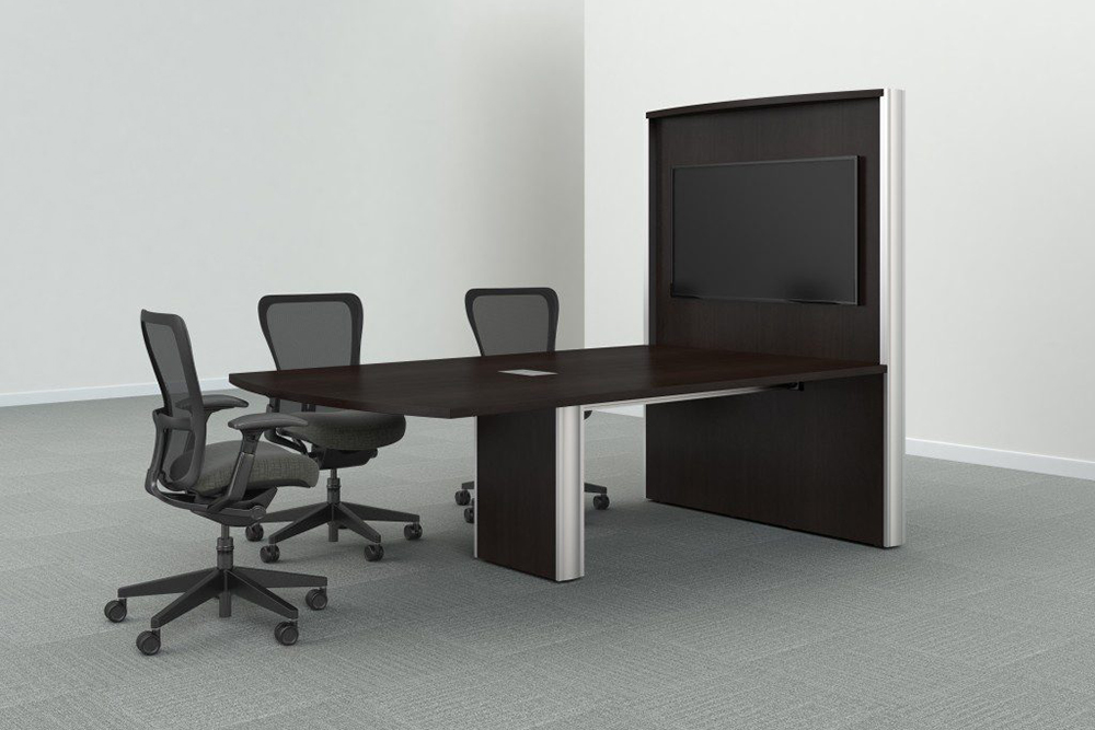 Table with area to hang tv