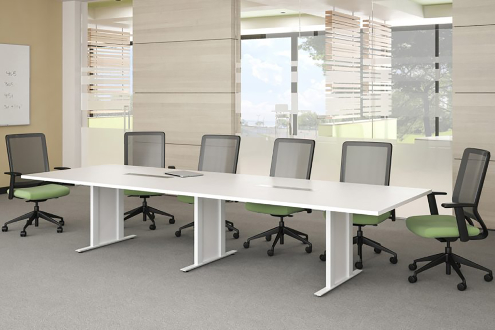 White and green conference room
