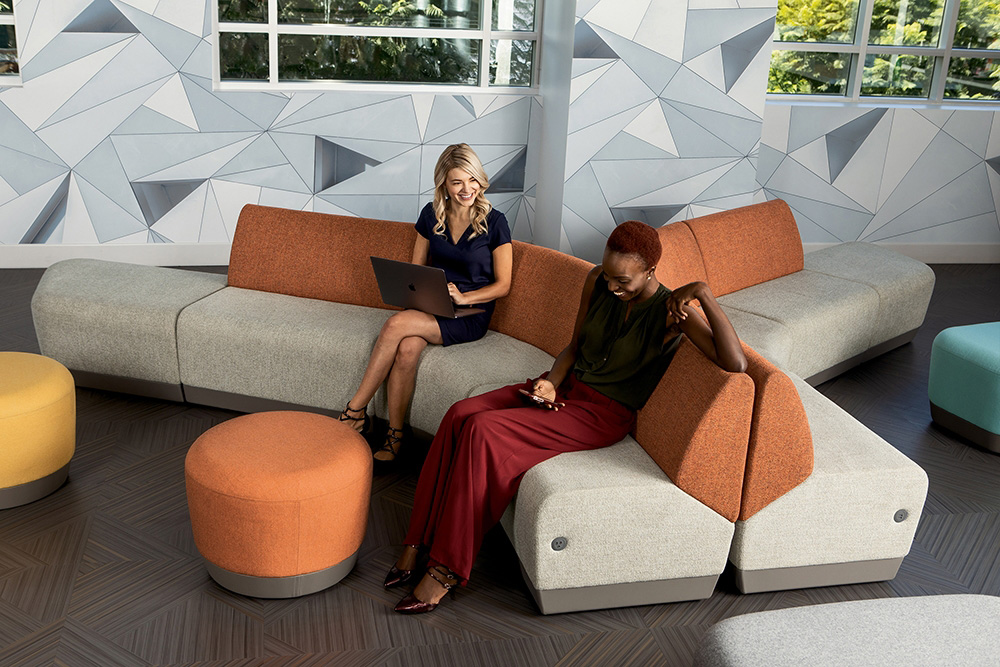 Multi color sectional seating