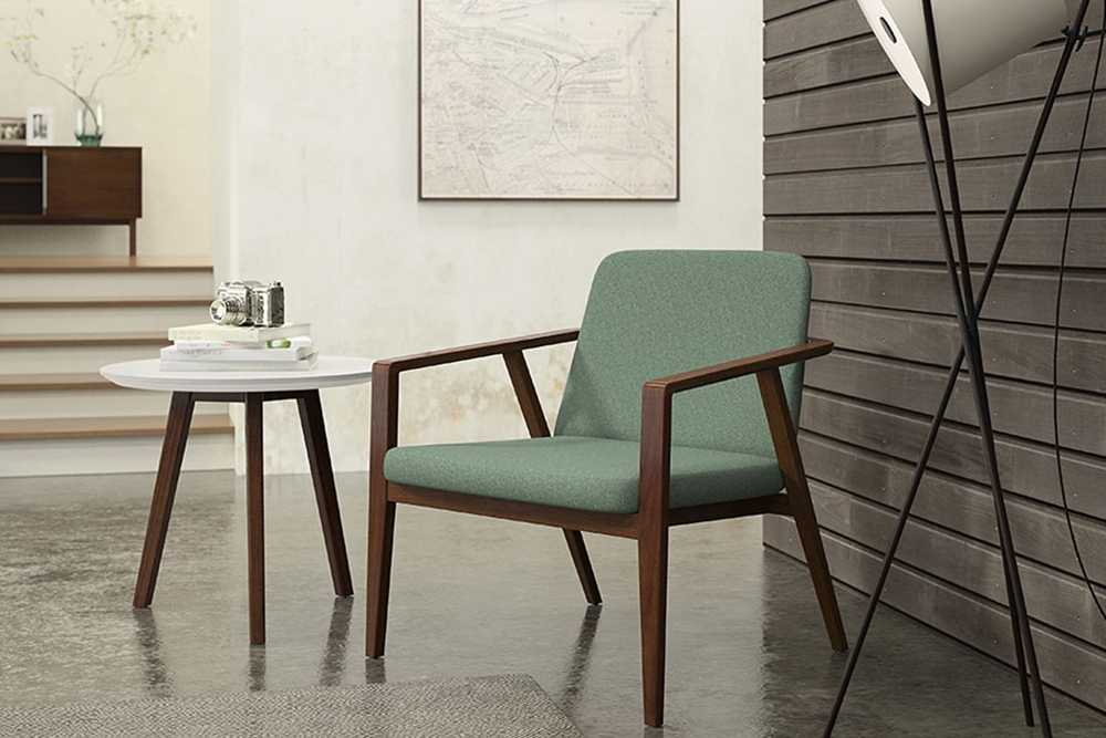 Low wood chair