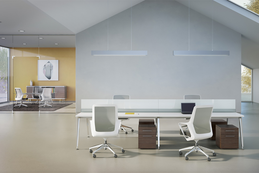 Desk with white chair