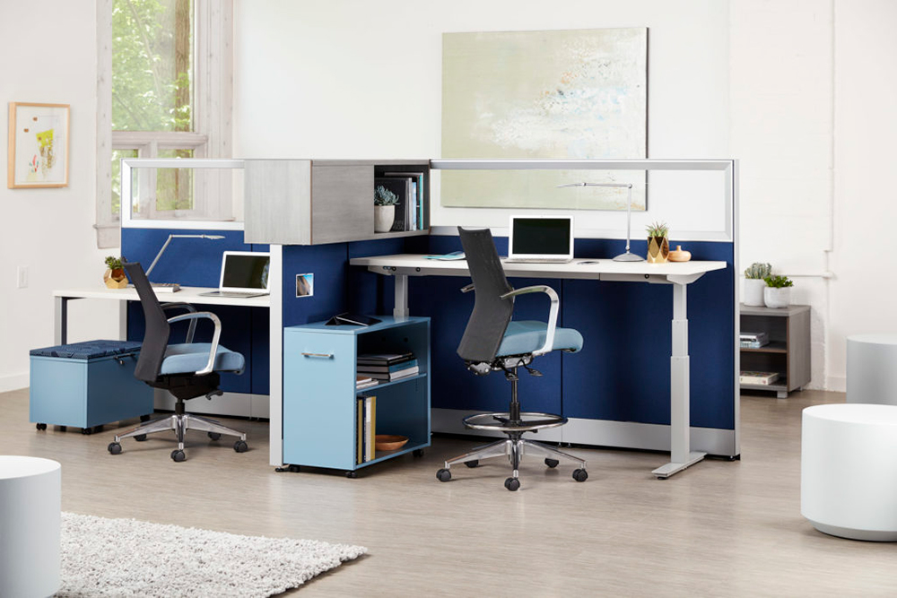 2 person height adjustable desk