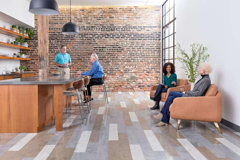 senior living lounge area